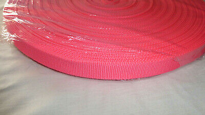 25mm wide Heavyweight Polypropylene Webbing NEON PINK, 1, 10 or 50 metres