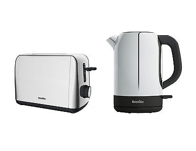 Breville Outline Toaster and Kettle Polished Stainless Steel Set in Silver