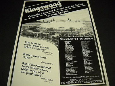 KINGSWOOD 1983 promo ad IRON MAIDEN Osmonds TALKING HEADS Conway Twitty others