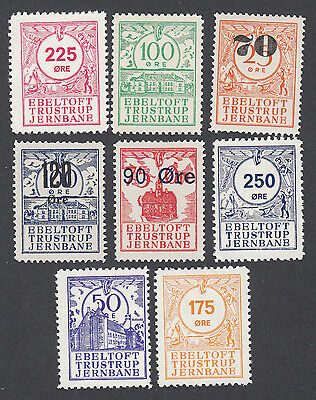Denmark Local Railway Parcel Stamps  EBELTOFT TRUSTRUP