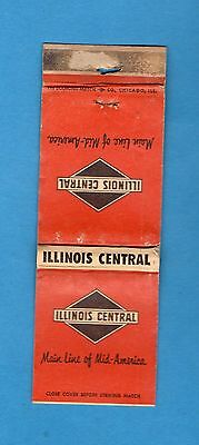 ILLINIOS CENTRAL RAILROAD  Main Line of Mid-America- Routes on Map Inside