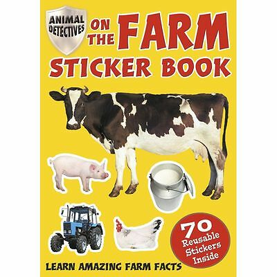 Granja A4 Pegatinas Libro Con Proof Color Animal Tractor Granjero Hechos