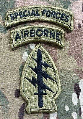 US ARMY Special Forces Airborne Tan 499 Scorpion MULTICAM OCP Velcro patch