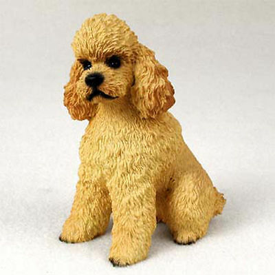 Poodle Hand Painted Dog Figurine Statue Apricot Sport