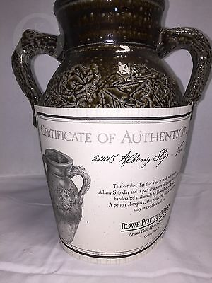 2005*ROWE POTTERY *Limited Edition* Albany Slip*Jug-Vase*  16307E  WITH COA