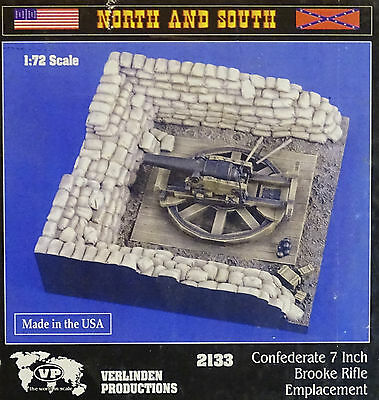 VERLINDEN PRODUCTIONS #2133 Confederate 7inch Brooke Rifle Emplacement in 1:72