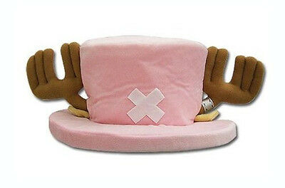 """Great Eastern GE-2303 One Piece 7"""" Tony Chopper Pink Plush Hat with Antlers"""