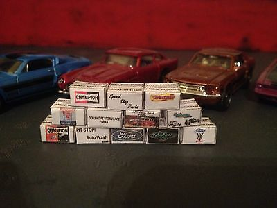 1/64 scale diorama garage Hot Rod Style Branded Boxes #SET 5
