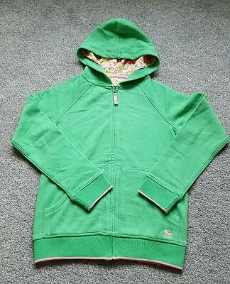 MINI BODEN Girls cotton hooded zipped Jumper. Size 11-12 years. Brand new.