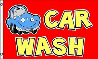 Red CAR WASH Flag Business Advertising Banner Outdoor Pennant 3x5 Auto Carwash