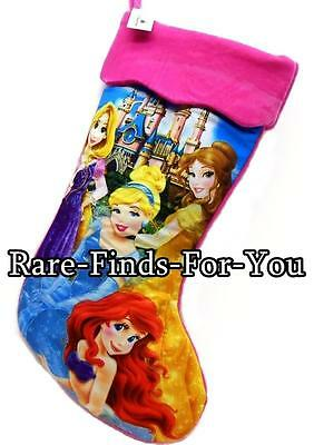 Disney Parks Princess Castle Ariel Belle Cinderella Rapunzel Christmas Stocking