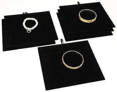 6 Tray Insert Pad Black Velvet Jewelry Display Bracelet