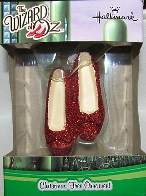 Hallmark  Wizard of Oz  Dorothy's Ruby Red Slippers  Ornament  NEW