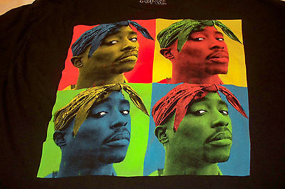 2PAC Tupac Shakur hip hop rap graphic T-Shirt short sleeve Size XXL licensed