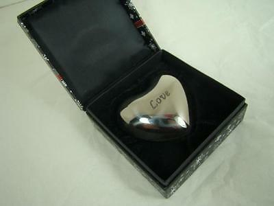 brighton LOVE HEART PAPER WEIGHT  CHIMES WITH ANY MOVEMENT  NIB