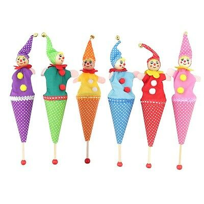 Retractable Smiling Clown Hide & Seek Play Jingle Bell Baby Kids Funny Toy New