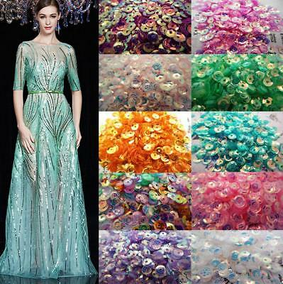 Hot 1200PCS 4MM DIY Oval Round Loose Sequins Paillettes Sewing Wedding Craft