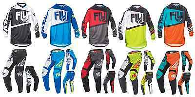 Fly Racing Jersey Pants or Gloves Mens Mx Atv Black Red Blue Orange Lime