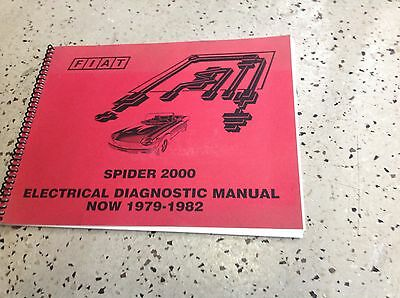 1979 1980 1981 1982 FIAT SPIDER 2000 Electrical Diagnostic Shop Manual RARE