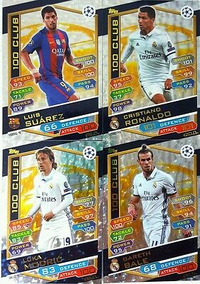 MATCH ATTAX UEFA CHAMPIONS LEAGUE 16 / 17 Card Singles 100 CLUB - HAT TRICK HERO