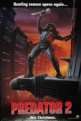 Predator 2 Laminated Mini A4 Movie Poster Print Danny Glover