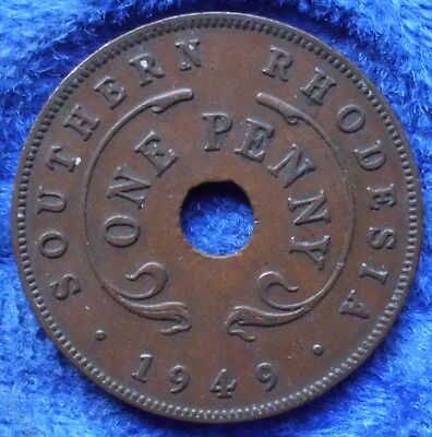 SOUTHERN RHODESIA - 1 penny 1949 KM# 25 George VI (1936-52) - Edelweiss Coins