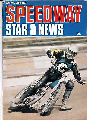 Speedway Star And News. May 20, 1972.Ellesmere Port  team photo.