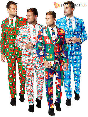 Mens Christmas OppoSuit Adults Xmas Party Oppo Suit Festive Fancy Dress Costume