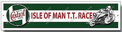 Castrol Isle Of Man Tt Races High Gloss Finish Metal Sign,retro,garage,workshop,