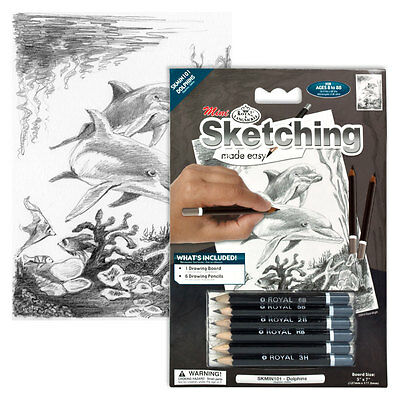 Mini Sketching Made Easy Royal Langnickel Pencil Drawing Kit - Sea Life -various