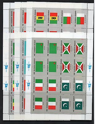 UNITED NATIONS Stamp COLLECTION 12  Mint FLAGS SHEETLETS Ref:TS77