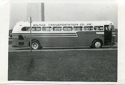 5E365 Rp 1950 Wilkes Transportation Co N Wilkesboro Nc Aerocoach Bus #18 Wash Dc