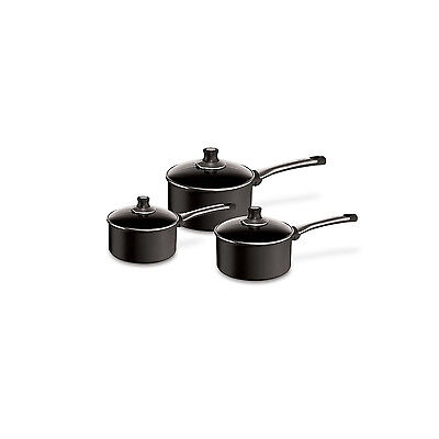 Tefal Preference Pro Non Stick 3pc Non Stick Cookware Saucepan Set Glass Lids