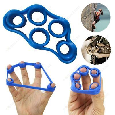 Hand Finger Strength Exerciser Trainer Strengthener Grip Resistance Band Tension