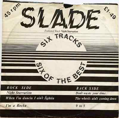 """SLADE - Night Starvation: Six Of The Best EP (12"""") (G/F)"""