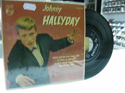 "Johnny Hallyday Ep 7"" Spanish Nous,quand On S'embrasse + 3. 1961"