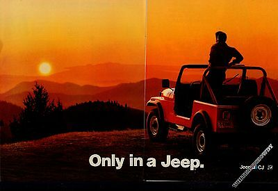 1983 JEEP Red CJ Vintage 2-page AD Collectible Car Advertising