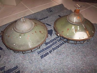 Lot Of 2 Nyc Subway R&s Circa 1913 Porcelain Russell Stoll Ny Light Fixture Rare