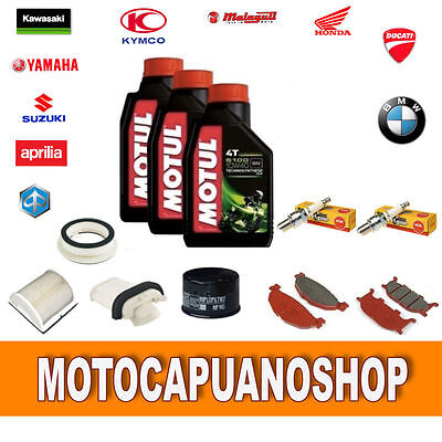 Replacement Kit Yamaha T Max 500 2002 Oil Motul Filters Pads Candles