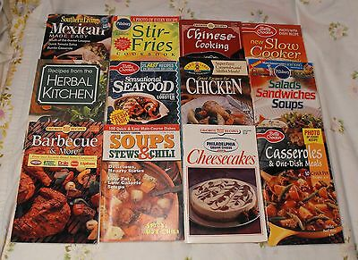Lot 12 Cook Booklets Pamphlets Seafood Mexican Herbal Cheesecake Chinese Soups