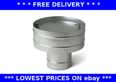 Roof cowl, flexible chimney flue liner, heating, ducting, anti-downdraught, cap