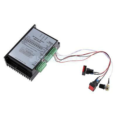 AC 20-110V input DC Motor Speed Controller Board PWM Spindle 2000W for PLC Black