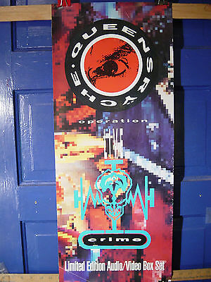 """Queensryche 2 sided Record Store Promo Poster - operation: LIVE crime - 12""""X30"""""""