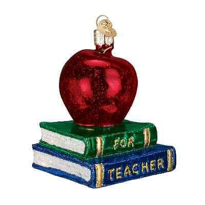 """Teacher's Apple"" (36128)X Old World Christmas Ornament"