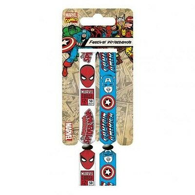 Marvel Comics 2 Pack Festival Wrist Bands with Free UK P&P