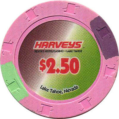 HARVEYS $2.50 Casino Chip Lake Tahoe Nevada USA