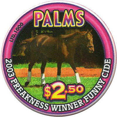 PALMS $2.50 Casino Chip Las Vegas Nevada USA Funny Cide - Preakness #2