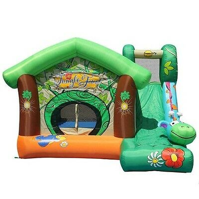 Jungle Fun With Slide Jumping Castle Hire Only Melbourne Children Party Hire