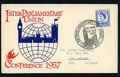 1957 Parliamentary Conference illustrated fdc with Big Ben special handstamp