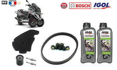 Pack Entretien Revision Courroie Galets Filtre Bougie Huile Gilera  Fuoco 500